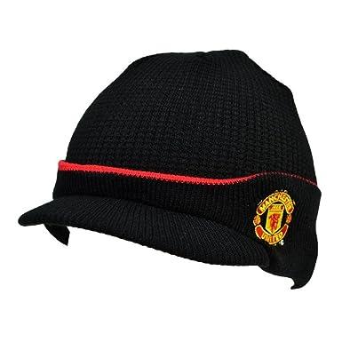 Manchester United FC Official Hat (Black Peak)  Amazon.co.uk  Sports ... 16ac52997f7