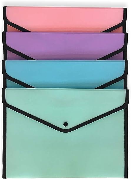 Ocean´s Wave OCW20058 - Pack de 48 sobres de plástico, color pastel: Amazon.es: Oficina y papelería