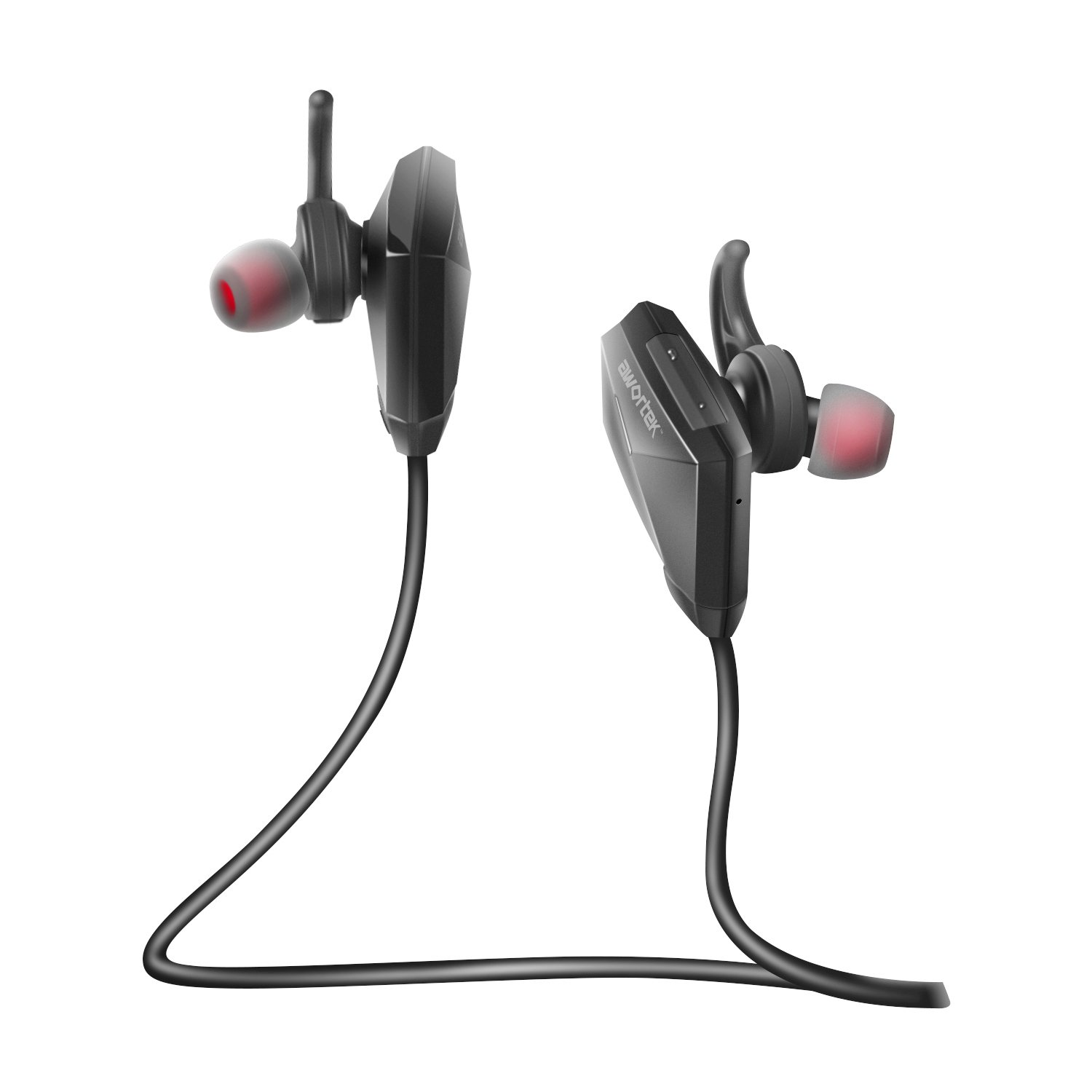 Awortek Bluetooth Headphones 4.1 Wireless Lightweight Earbuds Stereo Sports Sweatproof Bluetooth Earphones with Built-in Mic 6 Hours Working Time for Running, Cycling, Workout