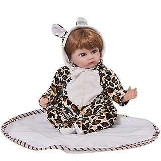 ZZYB 43cm Bambole Reborn Baby Doll Simulazione Cordiale Facciale Bambolotti per i Giocattoli Bambini miglior Compleanno Regalo di Natale