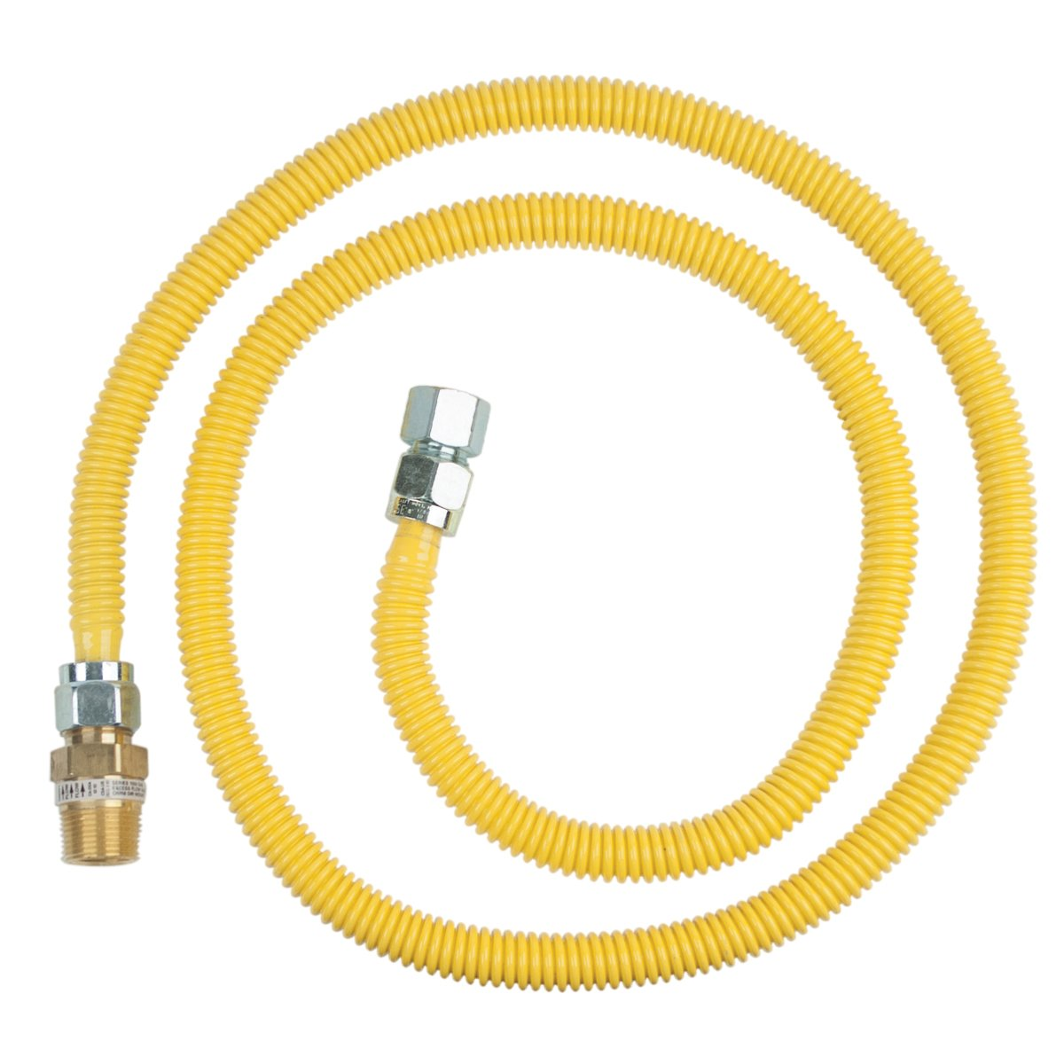Brasscraft Cssc12R72 P Safety Plus Gas Appliance Connector With 5/8'' Od Efv And 3/4'' Mip x 3/4'' Fip x 72''
