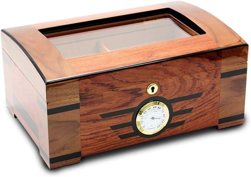 KLSK シガーヒュミドール、シダーウッドシガーボックス、密閉ボックス、ピアノ塗装シガレットケース 汎用性があり、操作が簡単です (Color : Brown)