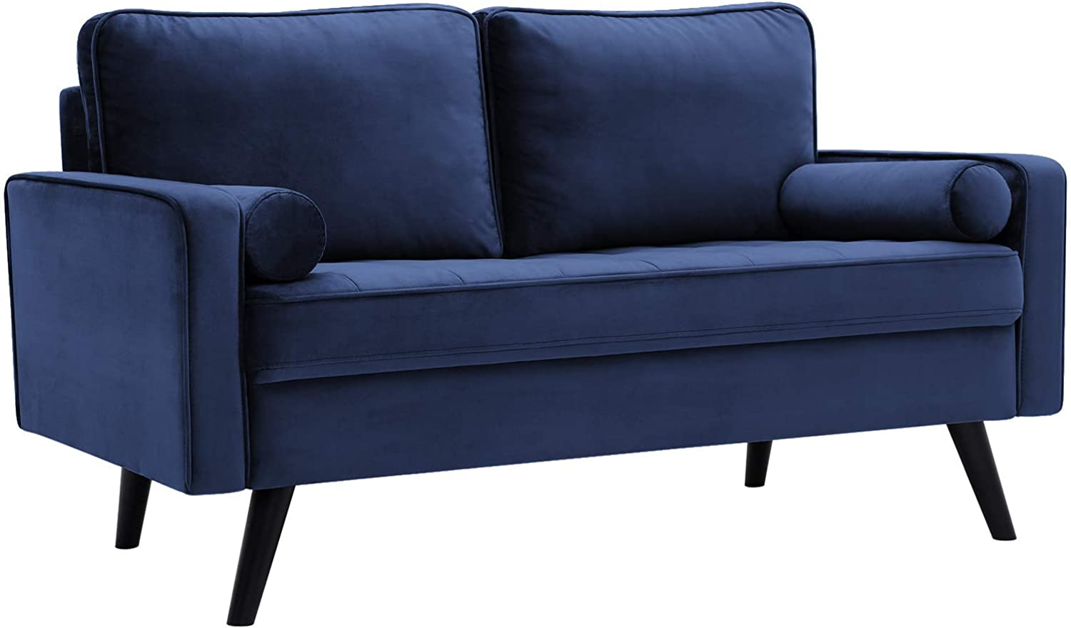 VASAGLE Sofa, Couch for Living Room, Smooth Velvet Surface, for Apartment, 57.5 x 32.3 x 33.1 Inches, Blue