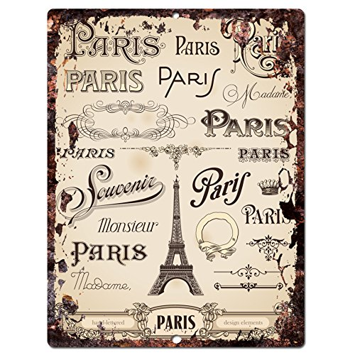Paris Chic Sign Rustic Shabby Vintage style Retro Kitchen Bar Pub Coffee Shop Wall Decor 9