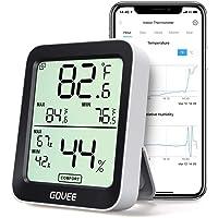 Govee Termómetro Higrómetro, Mini LCD Bluetooth Medidor Digital Humedad y Temperatura Interior con Función…