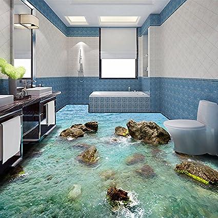 Papell Custom Any Size Mural Wallpaper Stones Coast Modern 3D Living Room Bathroom Floor Design Pvc Waterproof Non-Slip Vinyl Wallpaper, 250Cmx175Cm(98.4 By 68.9 In ) - - Amazon.com