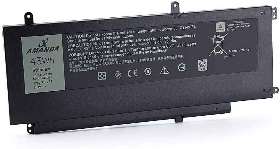 Amanda D2VF9 Battery 11.1V 43WH Replacement for Dell Inspiron 15 7547 7548 0PXR51 PXR51