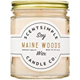 ScentSimple Scented Soy Candle - Maine Woods