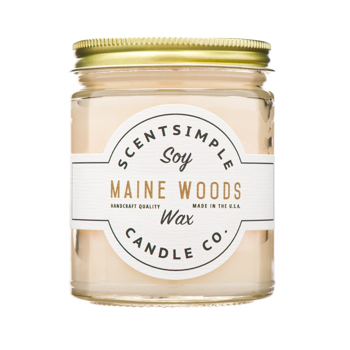 ScentSimple Scented Soy Candles Maine Woods Scent - Pine, Balsam Fir & Cedar
