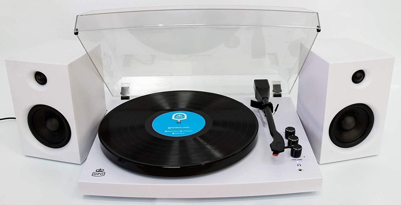 GPO Retro Piccadilly Blanco - Tocadiscos (Blanco, 33,45,78 RPM ...