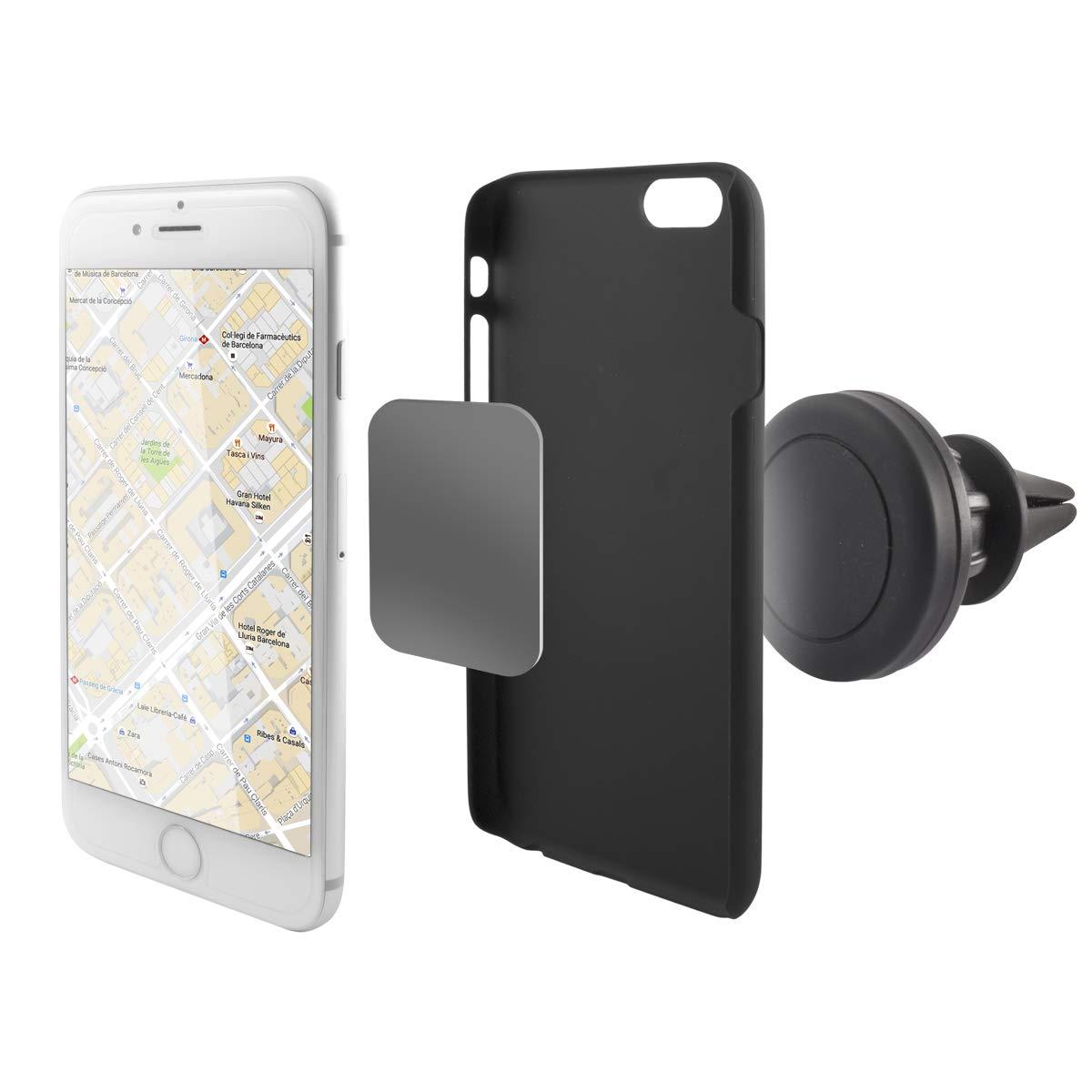 Ksix B9000SU09 - Soporte magnetic universal para smartphone, color negro: Amazon.es: Electrónica