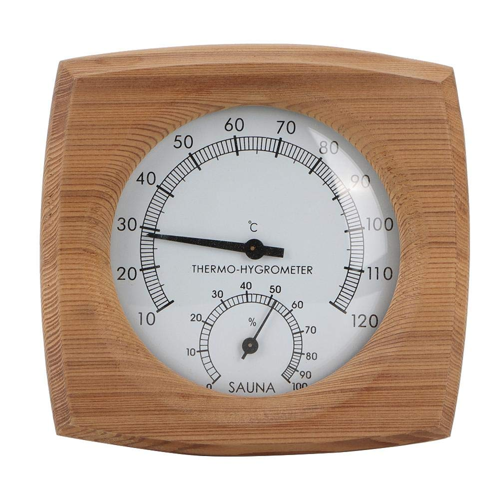 Indoor Wood Thermo-Hygrometer Thermometer Hygrometer Steam Room Sauna Room Accessories 2-in-1 Sauna Thermometer /& Hygrometer