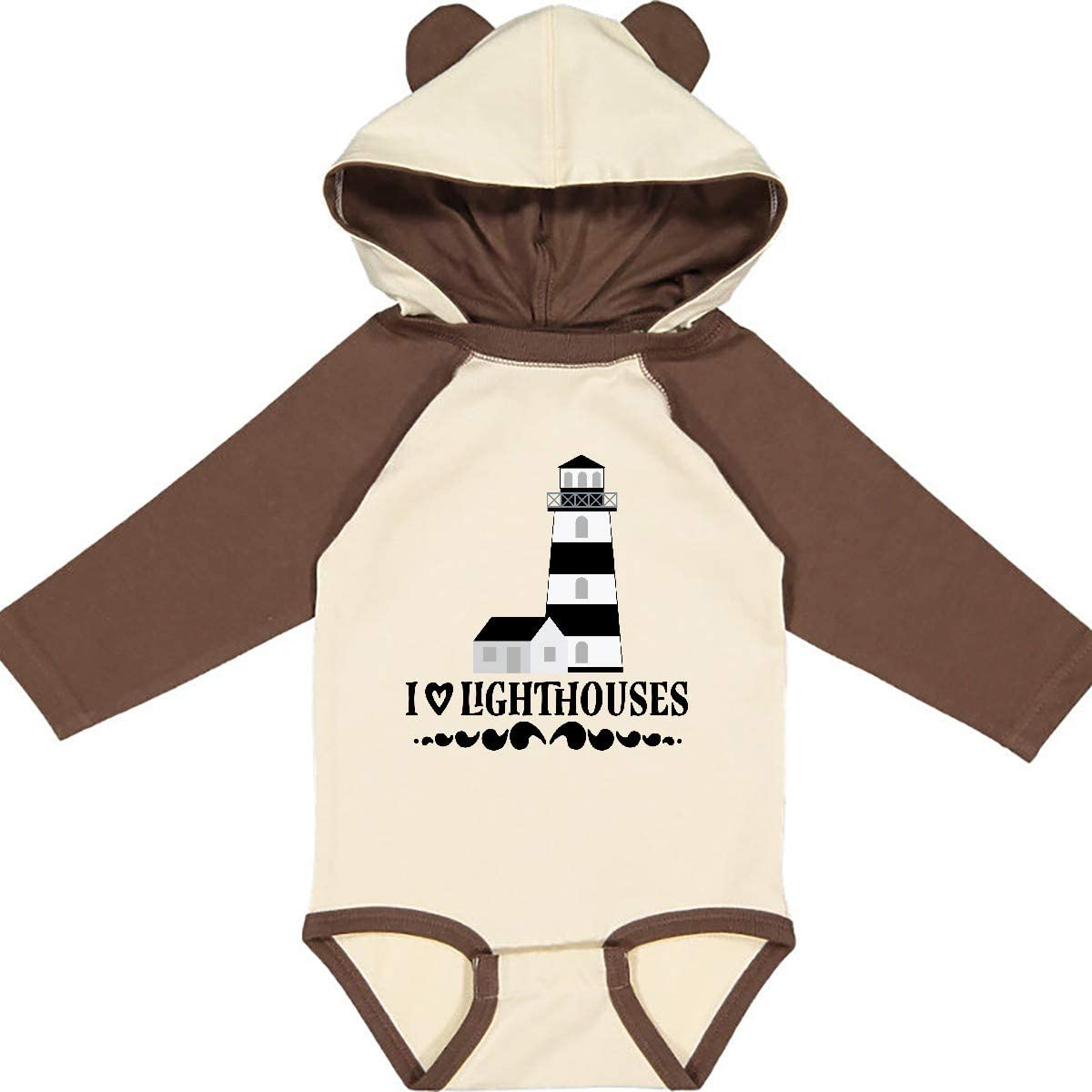 inktastic I Love Lighthouses Long Sleeve Creeper