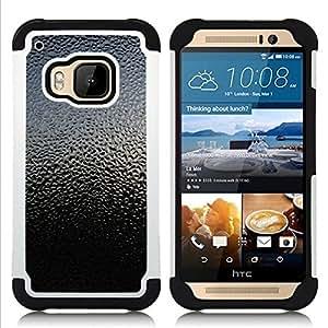 - sky nature glass rain droplets reflection/ H??brido 3in1 Deluxe Impreso duro Soft Alto Impacto caja de la armadura Defender - SHIMIN CAO - For HTC ONE M9