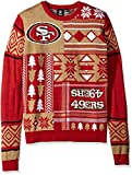NFL San Francisco 49Ers Patches Ugly Sweater, Red, Medium