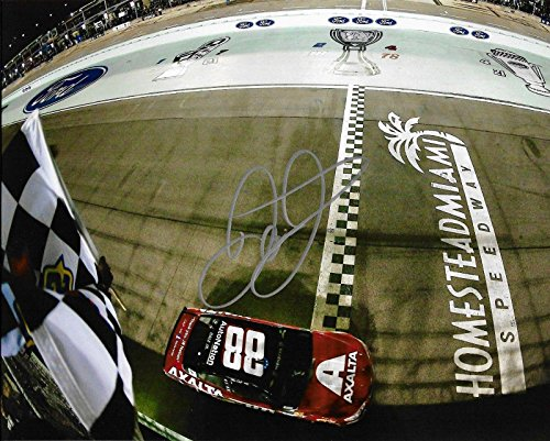 Dale Earnhardt Jr Race Shop - Dale Earnhardt Jr. Autographed Picture - 2017 Axalta Last Race Ride Miami 8x10 W COA D) - Autographed NASCAR Photos