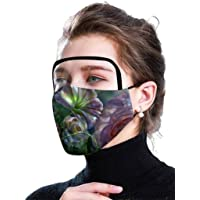 HUIMI Unisex Face Bandanas Adults Filters Reusable Mouth Face Filter Mouth Covering with Clear Window Visible Expression