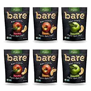 Bare Organic Apple Chips, Variety Pack, Gluten Free + Baked, 3 Ounce , 6 Count