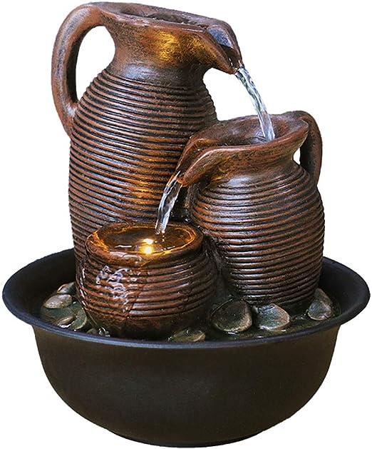 ZYP Fuentes de Mesa, Bola de Feng Shui Fuente de Agua Decoración ...