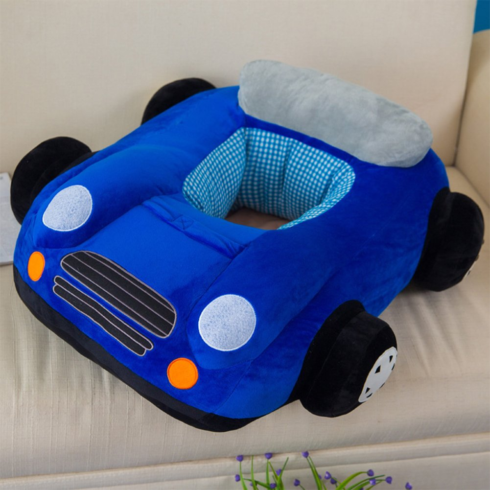 3D Navy Plush Sofa Chair Car Toy Cartoon Kids Baby Car Boy Girl Toddlers Gift Sitting-learn Chair Children's Day Festival Birthday Presents for Mom Soft Touch Cute Look Under Age 4 by Sport Do