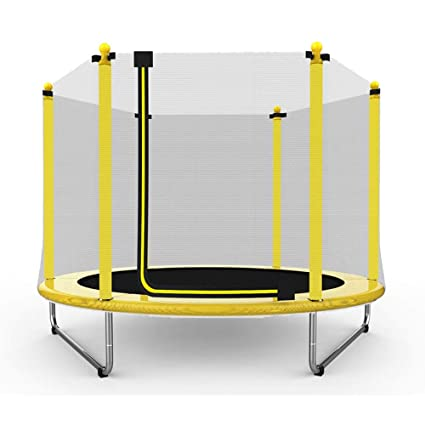 Soogo 60 Inch 5ft Round Trampoline Indoor Outdoor Jumping With Safety Enclosure Net And