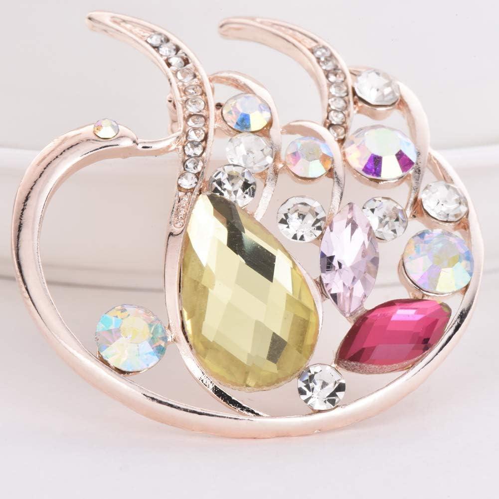 NAKASUFU Cseves Elegante Cisne Cristal Broche Insignia Rhinestone Mujer Ropa Solapa Decoraci/ón Pin