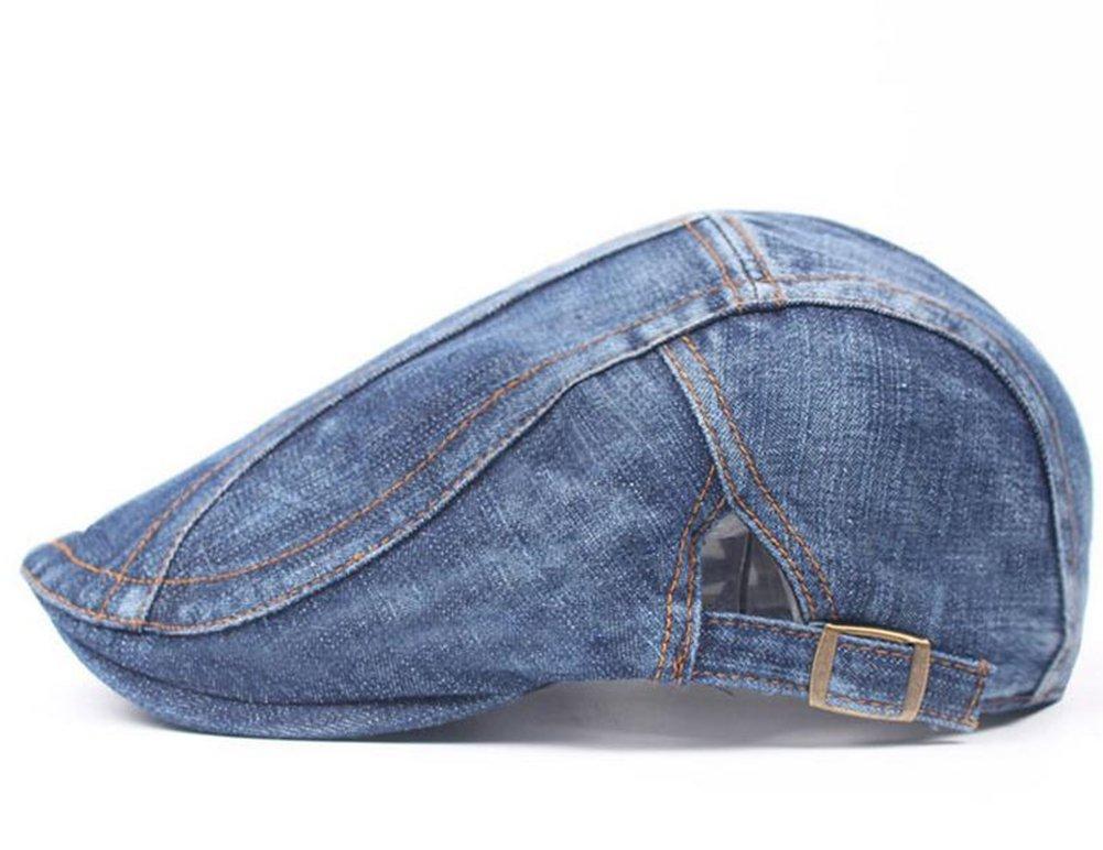 Doitsa Woman Man Classic Vintage Denim Beanies Cap Chic Flat Caps Personality Leisure Newsboy Hat Baker Boy Hat