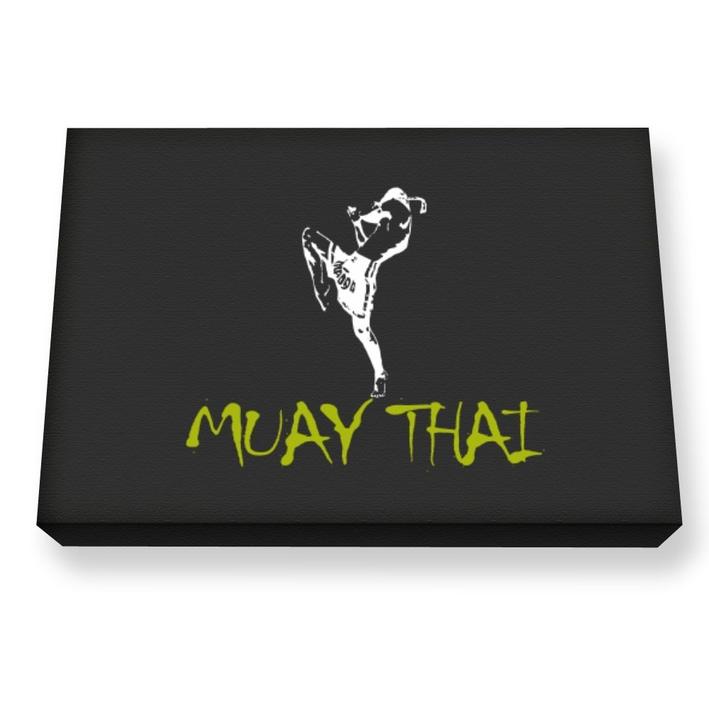 Teeburon Muay Thai Canvas Wall Art by Teeburon