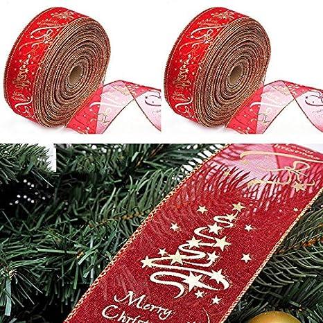 Red 6.3*200cm Xmas Tree Ornament Decorations Party Christmas Ribbon Decor Hot