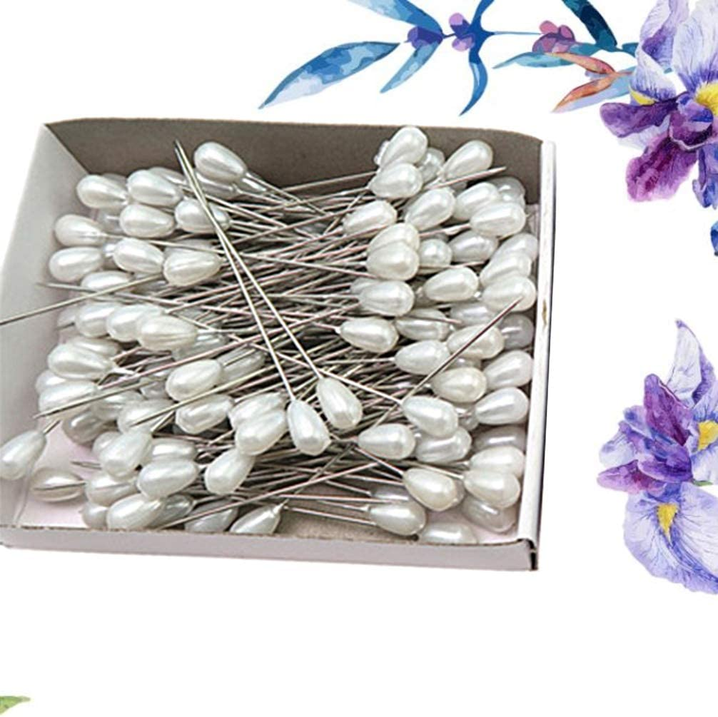 Colorful SUPVOX Pearl Head Pins Dressmaking Pins Corsage Florists Weddings Sewing Pin Teardrop Pearl Pins Stainless Steel Sewing Pins 288pcs