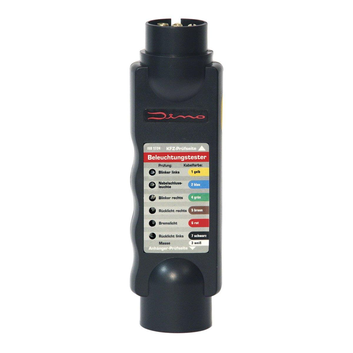 Dino 130081 12V Anhänger Prüfgerät 7-Polig Beleuchtungstester für ...
