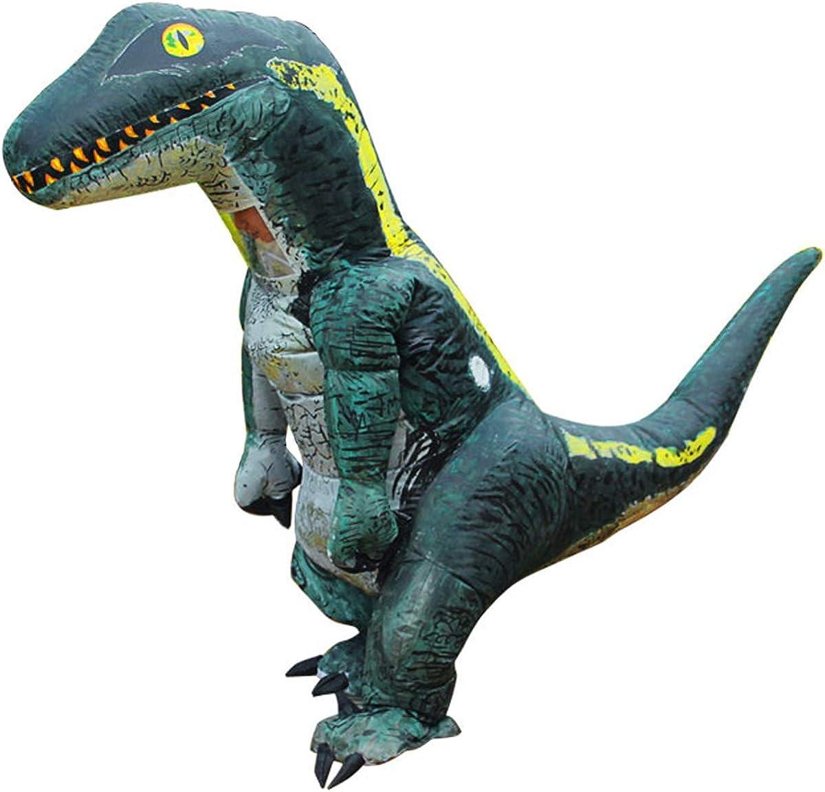 Jurassic World Adult Inflatable Velociraptor Dinosaur Costume