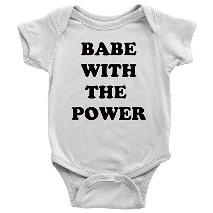 4dc329999 Amazon.com: OystersPearl Babe with The Power Infant Bodysuit. Red ...