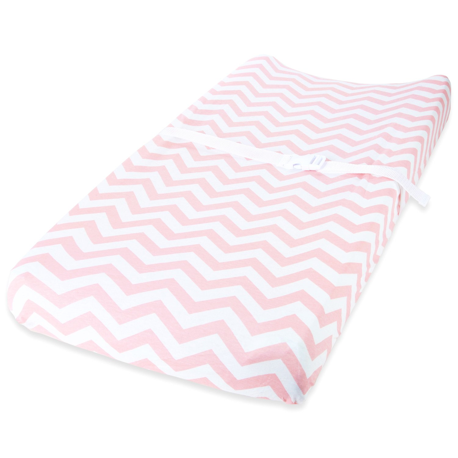 Cuddly Cubs Diaper Changing Table Pad Cover Set For Baby Girl | Soft & Breathable 100% Jersey Cotton | Adorable Unisex Patterns & Fitted Elastic Design | Cute Nursery & Cradle Bedding Sheets 2-Pack by Cuddly Cubs (Image #2)