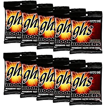 ghs strings ghs boomers roundwound electic guitar strings light gbl 10 pack 10 46. Black Bedroom Furniture Sets. Home Design Ideas