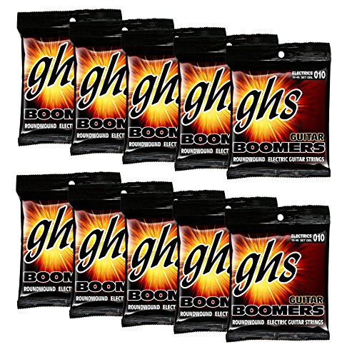 GHS Strings GBL 10 pack Nickel Plated Electric Guitar String, (Round Wound Single)