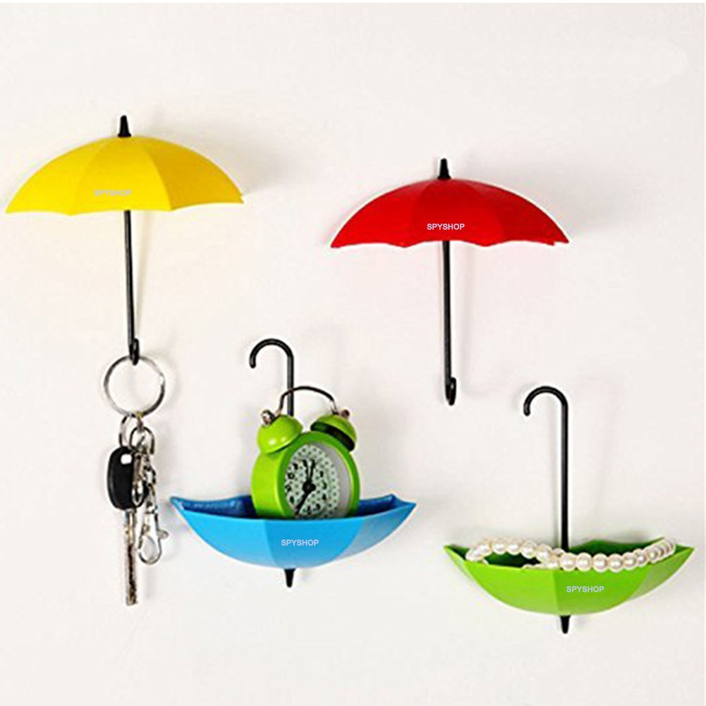 Colorful Umbrella Key Holder, Key Hanger,Wall Key Rack,Wall Key Holder,Key Organizer For Keys, Jewelry And Other Small Items (6PCS)