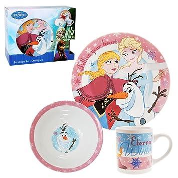 Disney Frozen - Porcelain Kids Dinnerware Set Breakfast (3 pcs)  sc 1 st  Amazon UK & Disney Frozen - Porcelain Kids Dinnerware Set Breakfast (3 pcs ...
