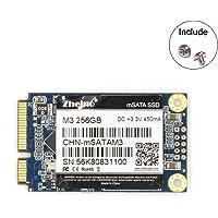 Zheino M3 内蔵型 mSATA 256GB SSD (30 * 50mm) 3年保証 mSATAIII 3D Nand 採用 6Gb/s mSATA ミニ ハードディスク