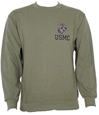 1cd3691bd USMC Genuine Issue Army Sweatshirt Olive Drab Green (Small)