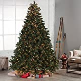 Classic Full Pre-lit Christmas Tree with Berries and Pine Cones - - 7.5 ft.