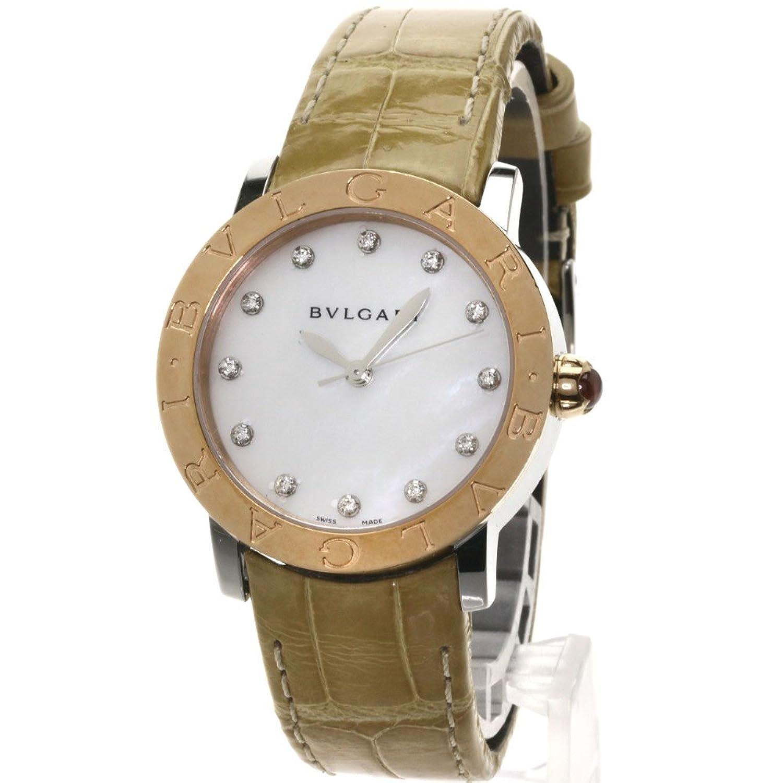 [ブルガリ]ブルガリブルガリ 腕時計 ステンレス/革/K18PG レディース (中古) B07B4QY71S
