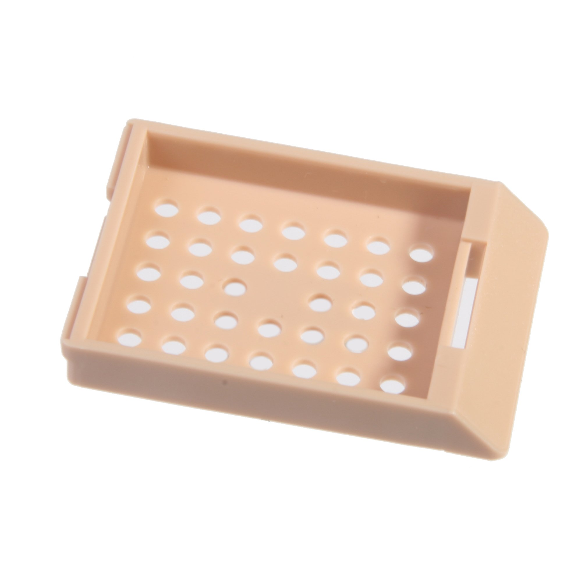 Bio Plas 6035 Tan Acetyl Plastic Histo Plas Capsette Tissue Embedding Cassettes (Pack of 500)