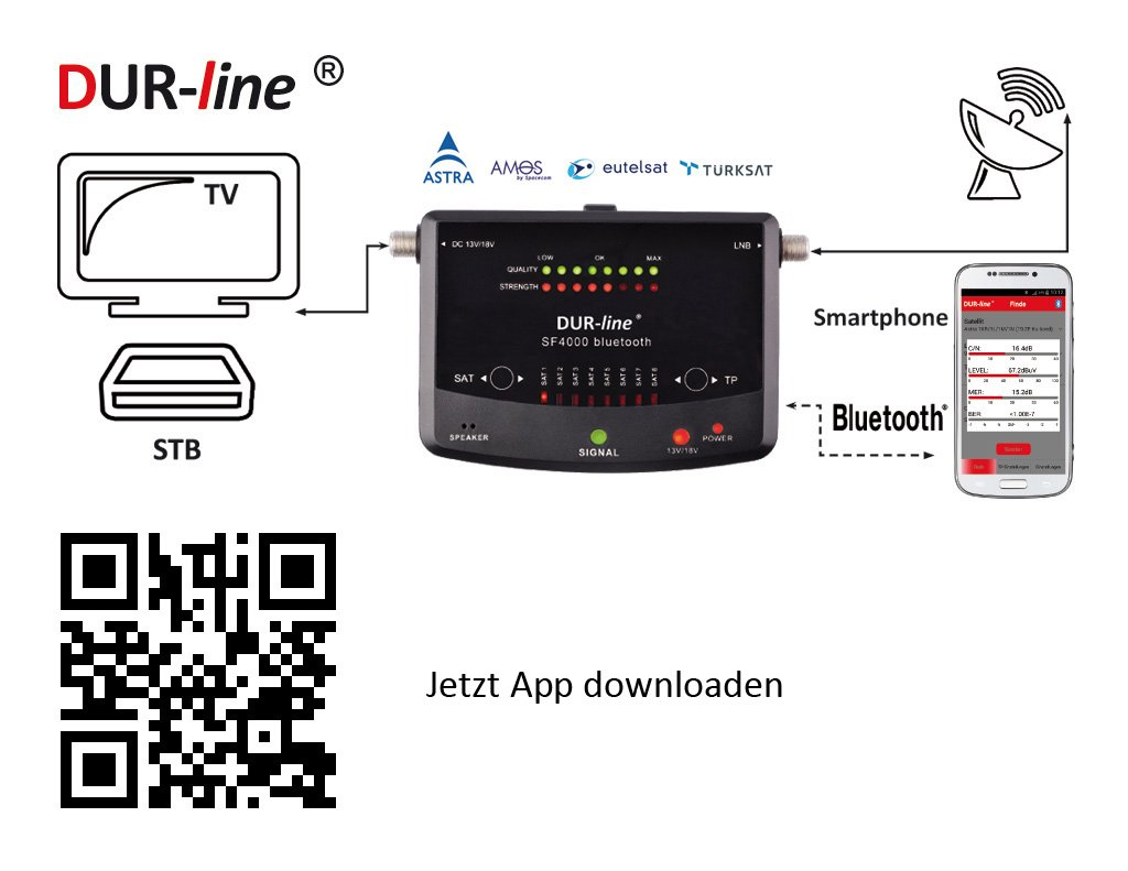 Neuheit Bluetooth Easy Satfinder Dur Line Sf 4000 Bt Amazon De