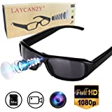 LAYCANZY 小型カメラ サングラス ハイビジョン眼鏡式カメラ ミニスパイカメラ ループ録画