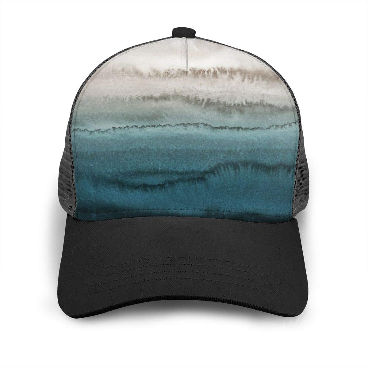 Mens and Womens Within The Tides Crashing Flat Baseball Hat Solid Sports Cap for Unisex