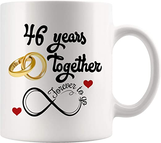 Amazon Com 46th Wedding Anniversary Gift For Him And Her 46th