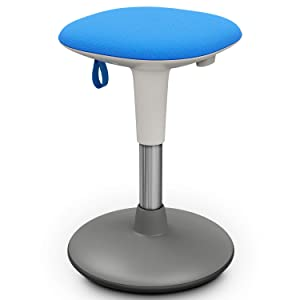Wobble Stool for Kids, Flexible Classroom & Home Seating, Kids' Chair, Flexible Seating, Wiggle Chairs, 360 Degree Movement, Helps ADD/ADHD - Corrects Posture (14-17'', Blue)