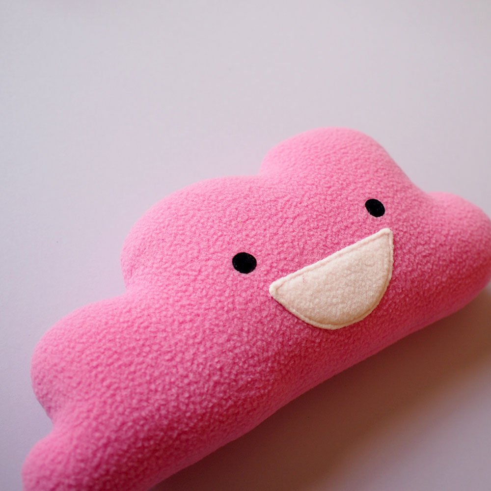 Happy Pink Cloud Plushie
