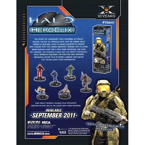 Halo Heroclix Trading Miniature Figure Game 2011 Edition 5Figure Booster Pack